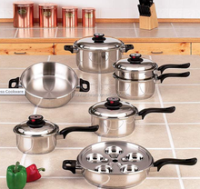 17 pcs stainless steel cooking pots and pans set/DX-A101
