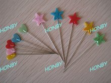 2 Inch Flat Heart and Star Head Straight Pin for Corsage Decoration