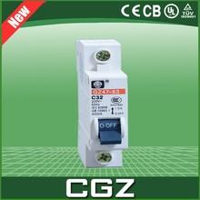 CGZ DZ47 series electrical miniature air circuit breakers