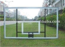 Transparent Basketball backboard