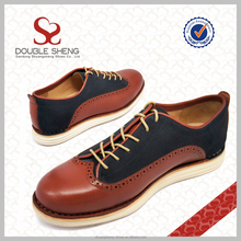 Wholesale italian men red wing brogue real leather upper EVA sole casual athletic shoes it
