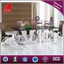 12seater wood metal dining table legs