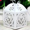 Love Heart Laser Cut Gift Favor Box Bomboniere Candy Holder Wedding Party Favors
