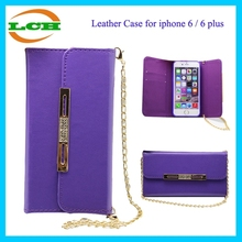 Leather neck strap case for iphone 6 plus cell phone case shoulder strap for iphone 6