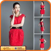 Cotton high waist lady dress korean model clothing