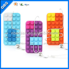 2014 hot design 3D Lego silicone Mobile phone Case for iPhone (OBS-M4027)