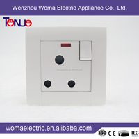 Latest Style High Quality 1 gang 15A switched socket with light