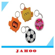 Cheap Keychain Giving Promotional Custom Rubber Key Ring