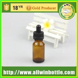 round amber glass bottles for e-liquid with dropper manufacturer