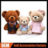 Custom Unique Family Bear Animal Head Covers For Golf Driver/Farirway/Hybrid