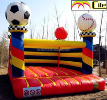 CILE 2015 Newest Children Playground Castle Inflatable with Football and Baseball for Party Decoration