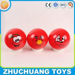 "custom logo 4"" inch hollow plastic bouncing balls"