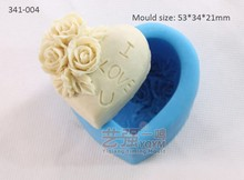 silicone I love you chocolate mold,silicone soap mould,silicone human heart cake mold