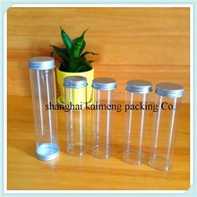 Popular transparent clear plastic tube for candy with caps from alibaba china supplier
