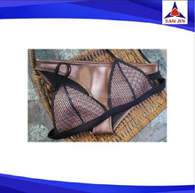 Newest Women's Neoprene Bikini Set Diving Suit Brazilian Halter Swimwear Brown S