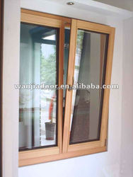 wanjia aluminum styles double glazed windows for homes