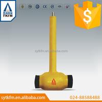 TKFM hot sale handle underground floating ball valve,extension stem ball valve gas