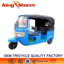 China Bajaj Auto Rickshaw 110CC/175CC/200CC Passenger Tuk Tricycle cng 3/Three wheel electric tricycle