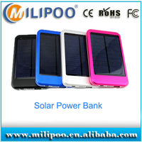 5000mah solar mobile power pack, solar power charger for iPhone