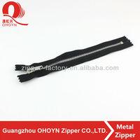 Fashion bag zipper! metal finish nickel zipper close end high quality whole sell in guangzhou