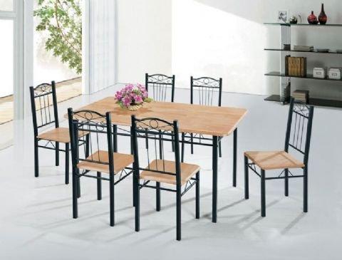 Juego de comedor elegante hierro y mesa de comedor muebles de ...