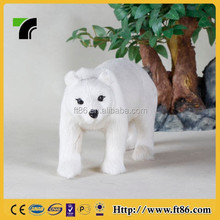 Home decoration high simulated pure white polar bear