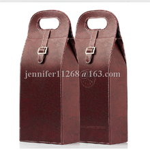 pu leather wine holder, leather wine bottle holder with handle