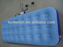 24 holes air bed for furniture,convenient inflate pvc flocked sleeping mat with special valves for outdoor/indoor/camping/hiking