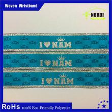 top popular woven wristband/bracelet for open air