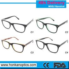 Fast shipping wholesale 2015 Brand italian Design acetate eyewear frames HKC150126