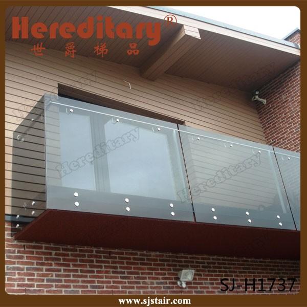 Gehärtetem glas balkon edelstahlgeländer design brüstung und ...