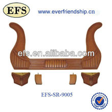 Madera maciza de antigüedades mobiliario tallado a mano marco