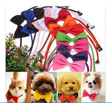 Wholesale cute adjustable ribbon bow tie for pet