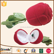 Antique style ring box red rose ring box flower shape ring box