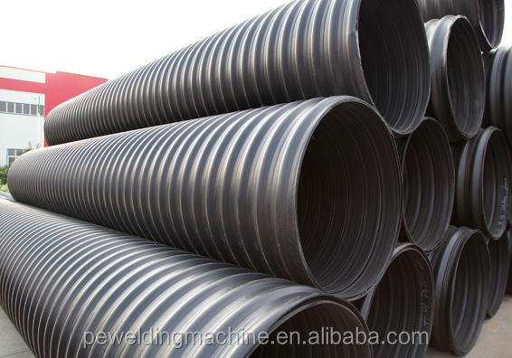 Large hdpe steel strip reinforced polyethylene plastic