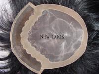 new look-human hair toupee fine mono lace toupee