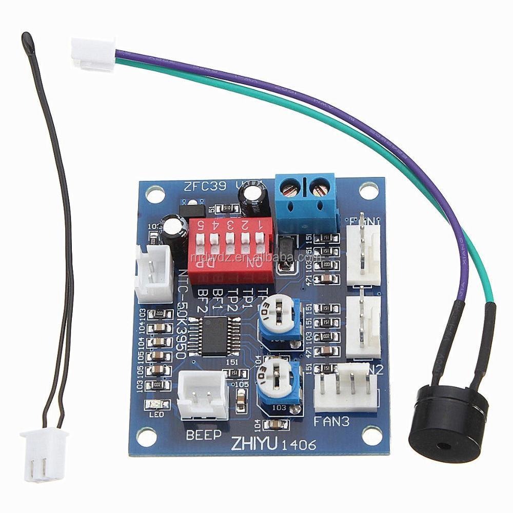 Dc 12v Pwm Pc Cpu Temperature Controller Board 4 Wires Fan Speed Wire Control 1