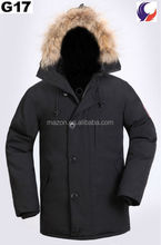 Waterproof canada winter thick goose long down jacket men hooded parkas G17
