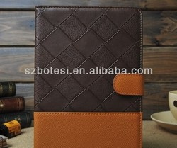 Manufacturer !! PU leather belt clip flip wallet case, book style leather case for ipad mini