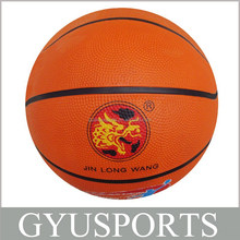 GY-D003 hot sale orange rubber customized basketball for children