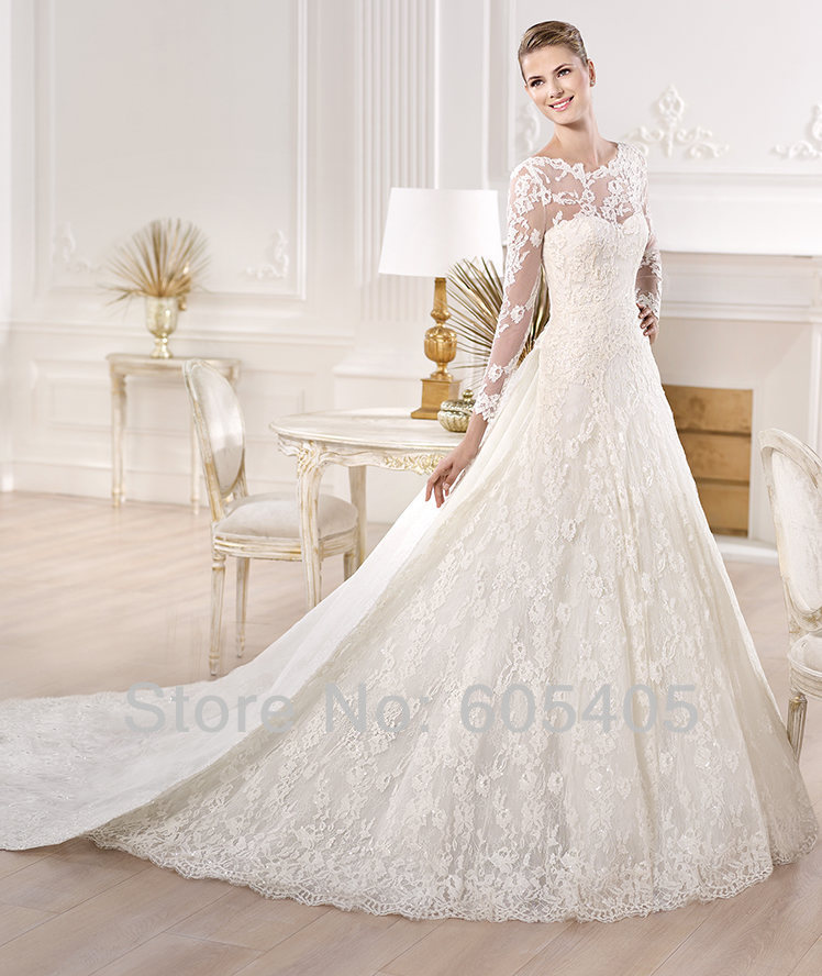 Lace Wedding Dress With Long Veil Lace Wedding Dresses With