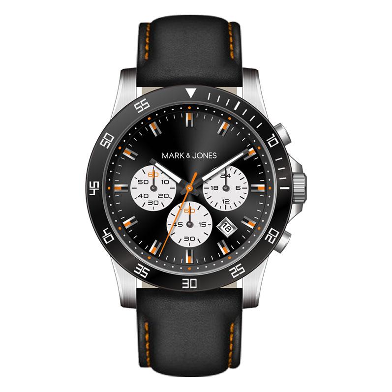 2017 HK 9월 새로운 제품 시계 및 시계 브랜드 망 큰 다이얼 3 눈 스틸 시계 메이커