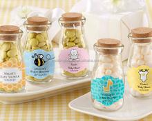 Vintage Personalized Milk Bottle Favor Jar