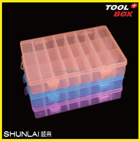 Plastic storage box for small tools