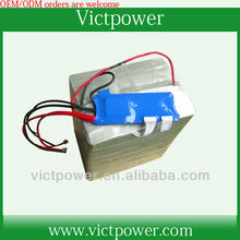 24v 60ah 8s3p lifepo4 ebike battery pack with BMS and 4A charger