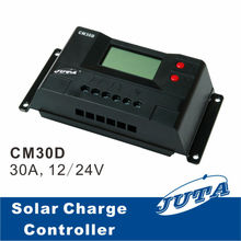30A New LCD PWM Solar Charge Controller for 12V/24V System