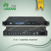 6 tuner(DVB/C/S/S2/T optional)inputs and 2 ASI inputs Satellite receiver