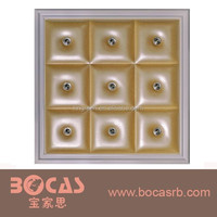 2015 New Soundproof Carved interior Decorative Foam PU Leather Carved 3D Wall Board