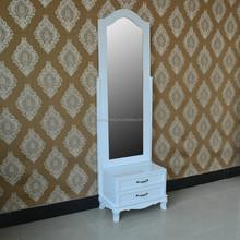 Antique Wardrobe With Mirror Carved oak Wooden Bedroom Wardrobe Cabinet