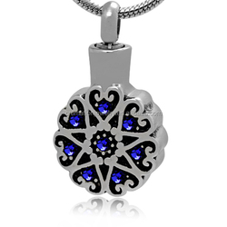Funeral Ash Jewelry Wholesales Black Enamel Stainless Steel Many Love Cremation Memoral Pet Crystal Pendant Always in My Heart